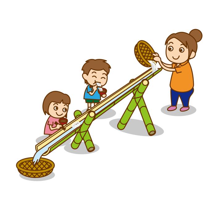 坂本繁二郎生家 大人気企画「流しそうめんを食べよう♪」今年も開催
