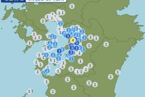 熊本県熊本地方 震度4の地震 久留米市は震度1【8月22日】