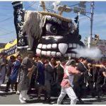 第46回城島ふるさと夢まつり 大迫力の2体の大獅子のパレード開催