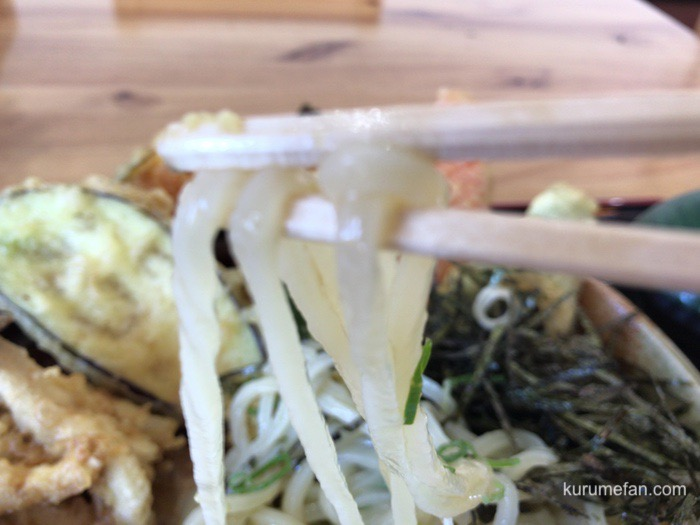 大地のうどん 久留米店 野菜天ぶっかけ 喉越しの良いツルツルのうどん