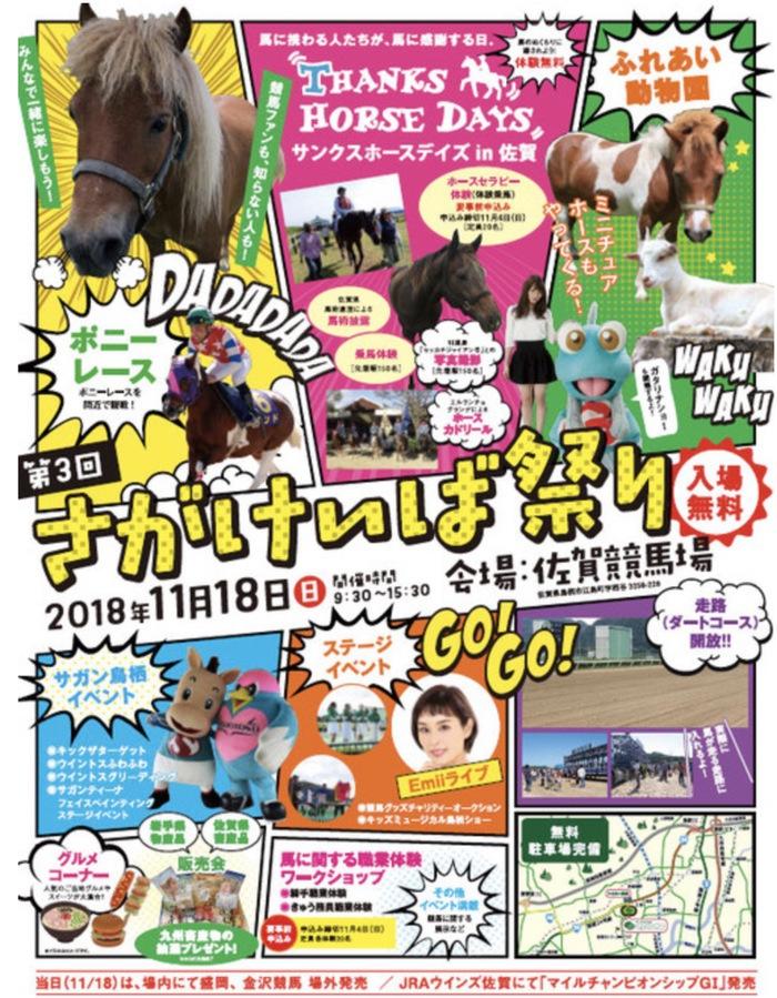 第3回 さがけいば祭り!本走路開放、乗馬体験、サガン鳥栖イベント開催