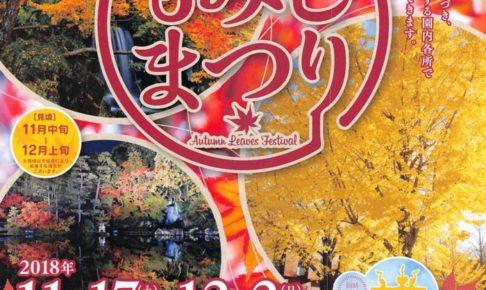石橋文化センター「もみじまつり」日本庭園・園内各所で紅葉を楽しめる