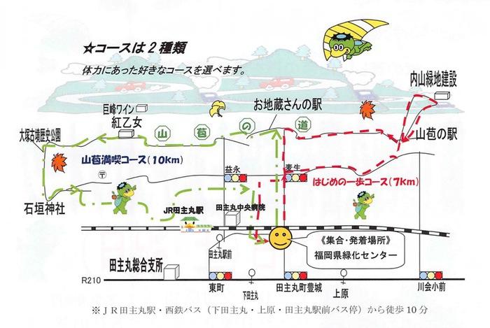 第19回 久留米市田主丸かっぱウオーク コース