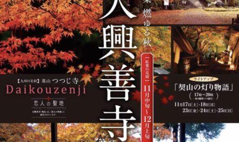大興善寺 紅葉の名所 ライトアップやもみじコンサート開催【基山町】