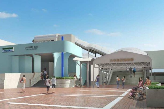 大牟田駅西口の環境整備の概要 完成イメージ図