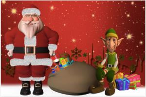 クリスマスコンサート&お楽しみ会 除籍本配布やサンタのお菓子配り