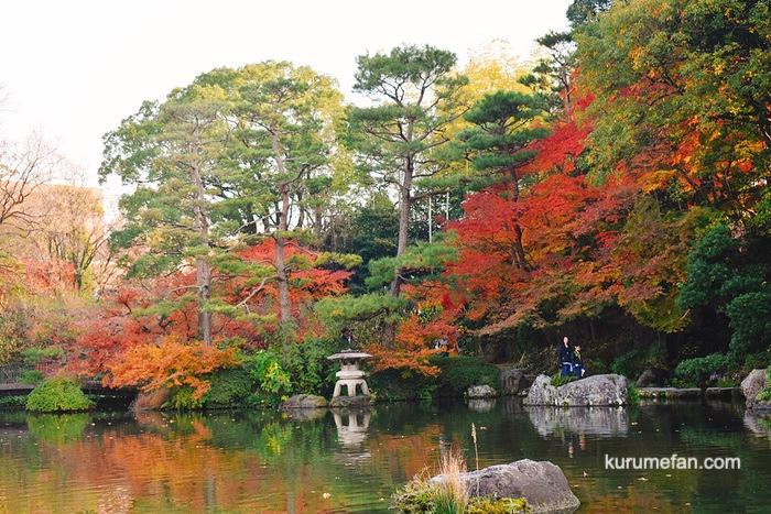 石橋文化センター 日本庭園の紅葉