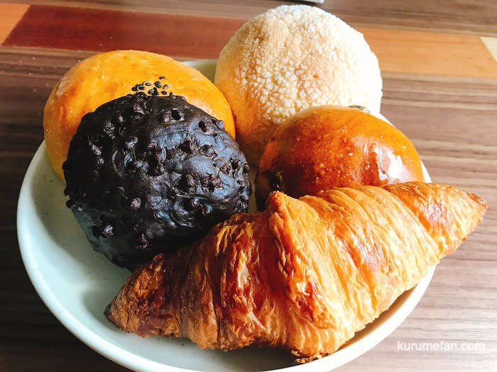 hiro パンおすすめセット 丸の内メロンパン、あんぱん、クロワッサン、ショコラショコラ、レーズンパン