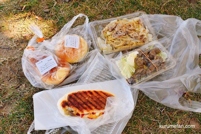鹿児島 黒豚の焼きそばとサイコロステーキ、パンとパニーニを購入