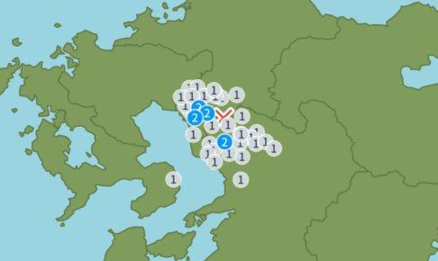 熊本県熊本地方を震源地とする地震 久留米市 震度1 みやま市 震度2