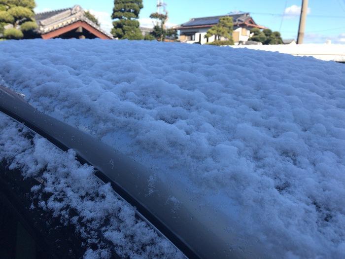 久留米市 2018年12月29日 雪が積もる
