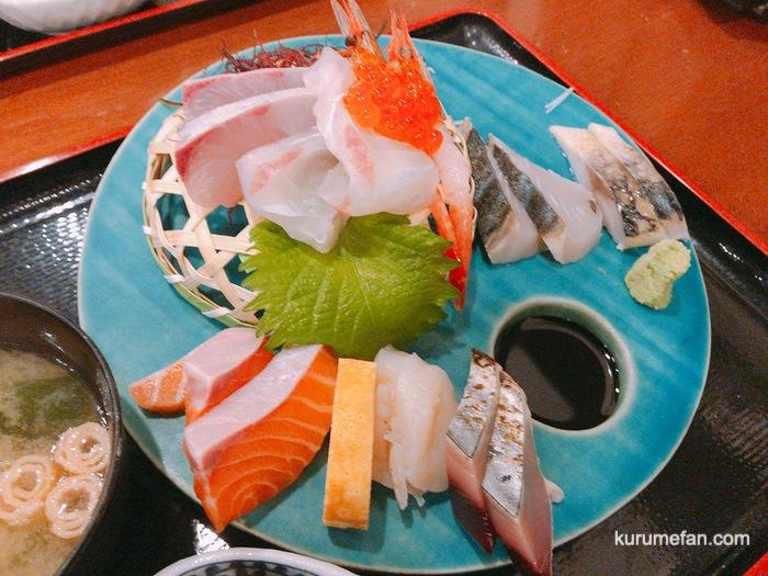 OBANA(おばな)の刺身定食 新鮮な刺身