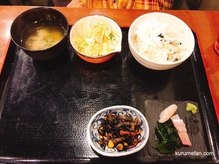 MARUGOTO(まるごと)鮮魚定食 小鉢・刺身