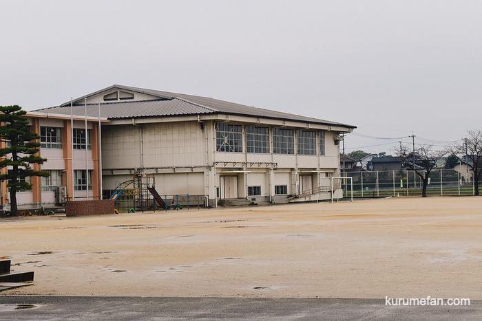 久留米市安武小学校体育館の自主練習場