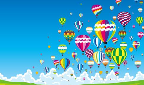 吉野ヶ里ウィンターバルーンフェスタ 約30機の熱気球によるの熱い競技