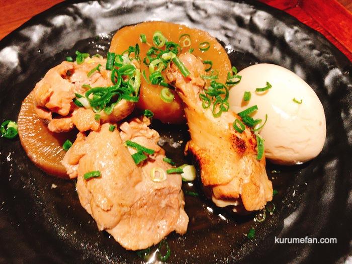だしが染み込んだ鶏肉と大根の煮物定食
