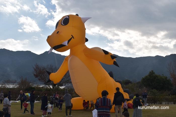 久留米ふれあい農業公園 たこあげ大会 恐竜