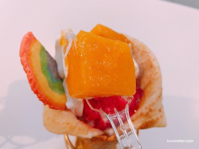 ハイイロ マンゴークレープのマンゴー