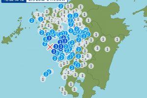 天草灘を震源地とする地震 久留米市、柳川市、みやま市など震度2
