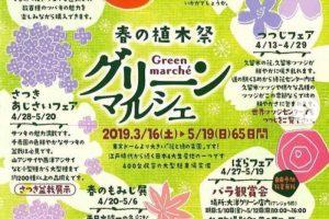 くるめ緑化センター 春の植木祭「グリーンマルシェ」65日間開催