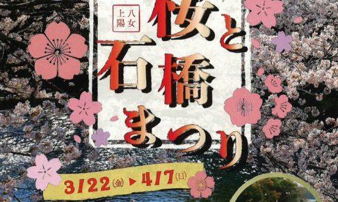 八女市上陽「桜と石橋まつり」約600本の桜と石橋の共演!夜桜ライトアップ