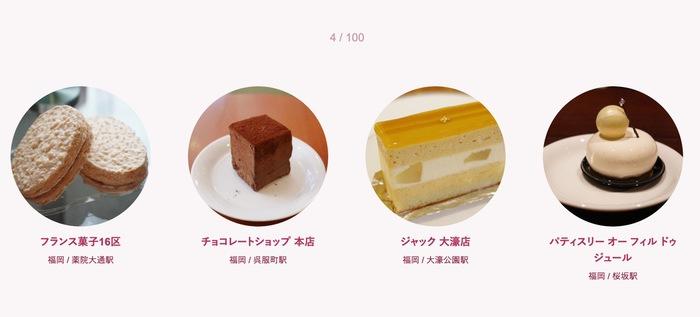 食べログ スイーツ 百名店 2019に入った福岡県の4店
