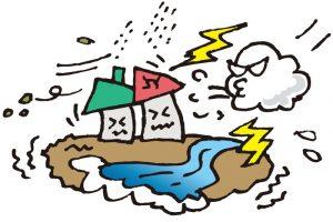 筑後市で突風(ダウンバースト)被害 発達した積乱雲の影響か