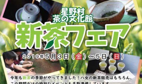 星野村 茶の文化館 ゴールデンウィーク新茶フェア 聞き茶の体験や釜炒り茶つくり