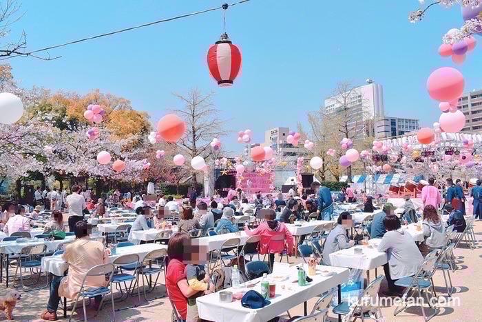 文化街さくら祭り 賑わう会場