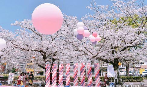 文化街さくら祭り2019に行ってきた!1コイン「肉祭り」、三本松公園の桜もキレイ!
