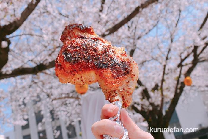 、フランス酒場ルプーの「豪快!!骨付鶏モモ肉のハニーマスタードソース」