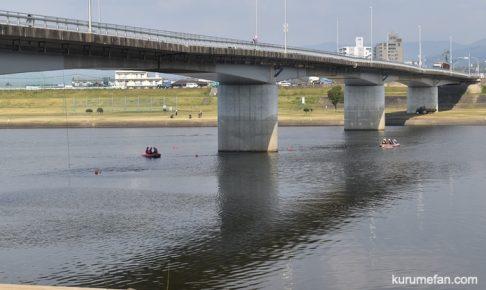 久留米市 長門石橋で何やら事件があったみたい!?飛び降り自殺か