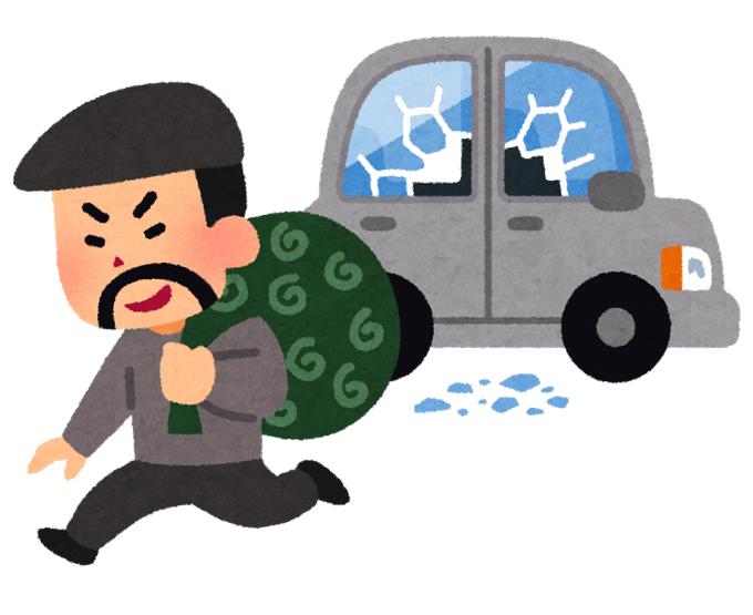久留米市荒木町や城島町で車上ねらいが連続発生 車両の窓ガラスが割られる