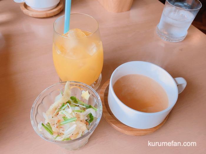 渡邉喫茶 パスタランチ サラダ・コンソメスープ