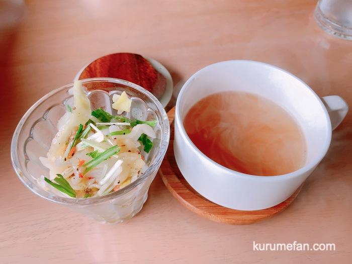渡邉喫茶 パスタランチ サラダとコンソメスープ