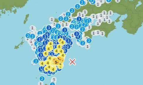 日向灘を震源地とする地震 震度5弱 久留米市・柳川市など震度3