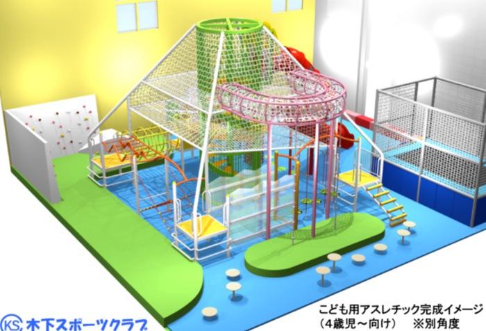 木下スポーツクラブ「室内こども用アスレチック施設」が久留米にオープン
