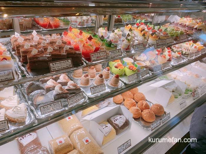 銀のすぷーん 久留米本店 スペシャルケーキセット ショーケースのケーキ選択