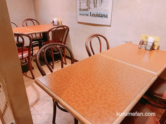 ハンバーグのお店ミヤザキ 店内奥のテーブル席