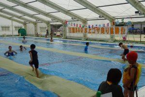 20メートル水上ゴザ走り体験会!久留米市 三潴B&G海洋センタープールで開催