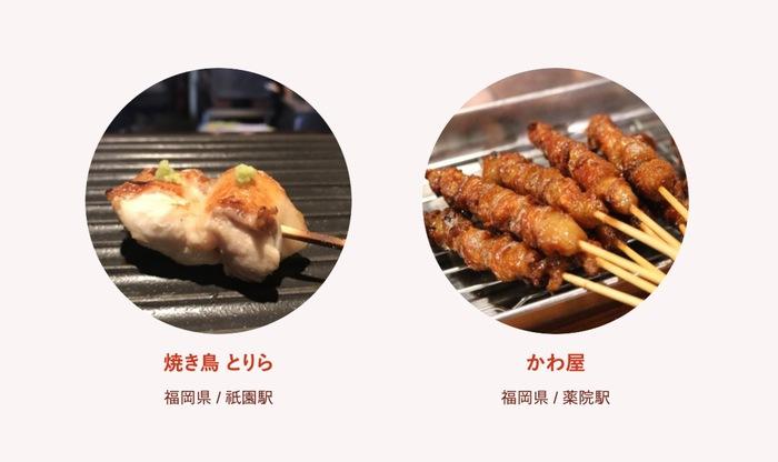 食べログ 焼鳥 百名店 2019に入った福岡県の2店