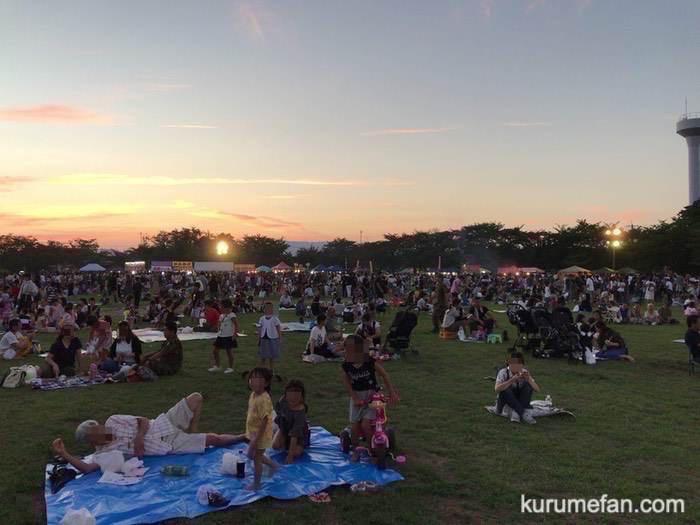 久留米駐屯地 夏祭り 多くの来場者