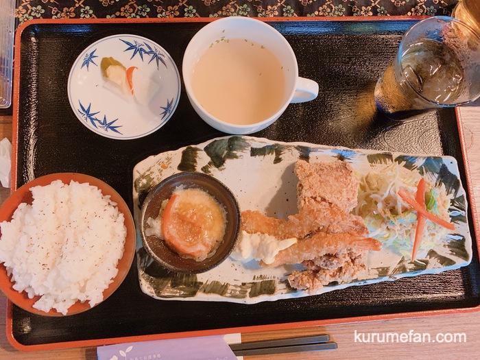 お茶とお食事処 森山 鳥栖店 ウマから&エビフライ定食