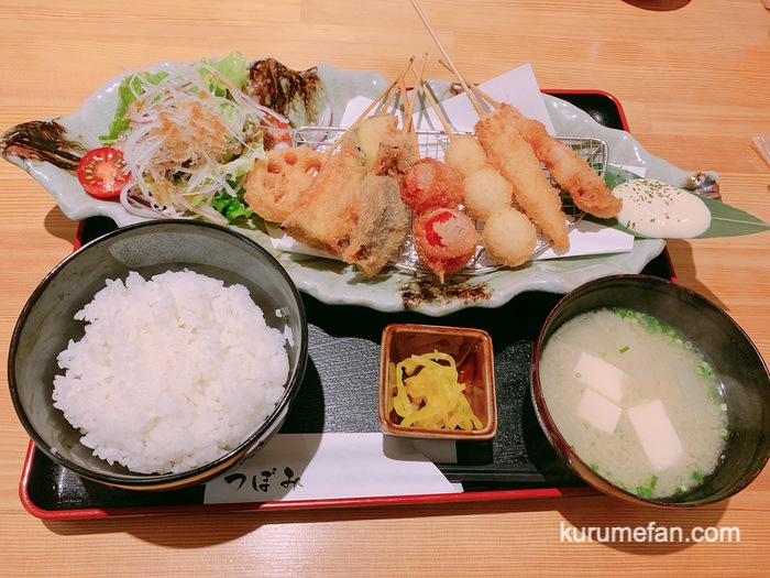 久留米市東町 魚・串料理「つぼみ」串カツ定食