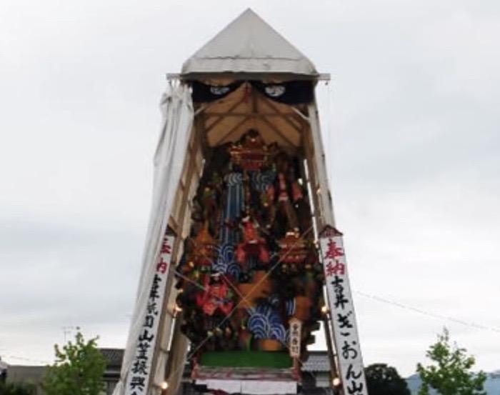 吉井祇園祭 2019 山笠、祇園囃子、夜店 うきは市吉井町の夏の一大風物詩