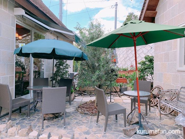 小郡市 zenzo cafe(ゼンゾウ カフェ)オープンテラス席