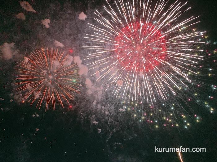 久留米市 筑後川花火大会 間近でみれる迫力の花火