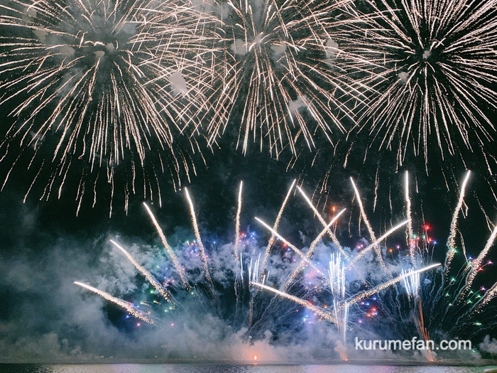 久留米市 筑後川花火大会 フィナーレ 超特別大早打ちの花火