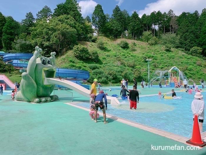 グリーンピア八女 レジャープール カエルの滑り台付き幼児用プール