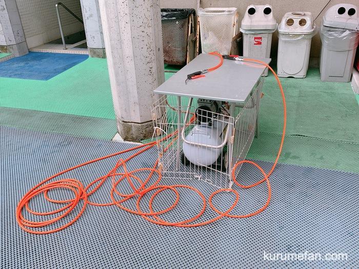 グリーンピア八女 レジャープール 浮き輪の空気入れ完備